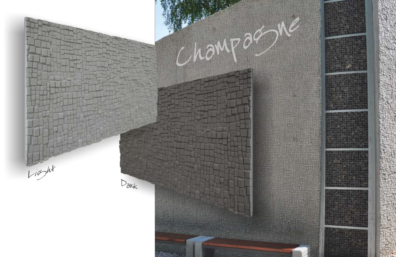 Zaawansowane Beton Architektoniczny Śląsk Płyty betonowe na ścianę z betonu LH85